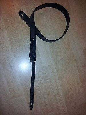 Guitar strap - vintage style (Page, Slash, Marvin), quality lamb leather.