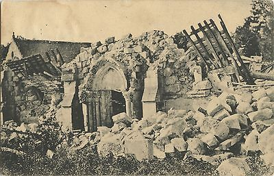 German WW1 Postcard, Destroyed In The Shelling, Great War, Feldpost 1917