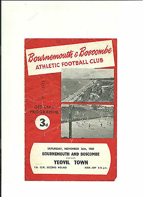 1960/61 FA Cup  2nd round proper  Bournemouth and Boscombe v Yeovil Town