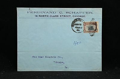 Illinois: Chicago 1901 #296 Single Use Double Weight Ferdinand C. Schapper Cover