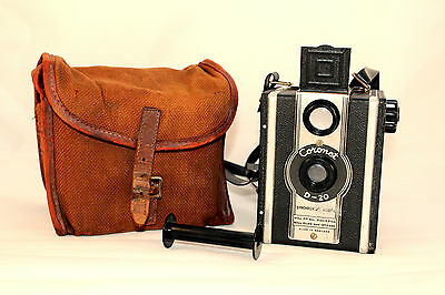 C1937 Vintage Coronet Camera D20 Synchronised Model in VGC (With Strap)