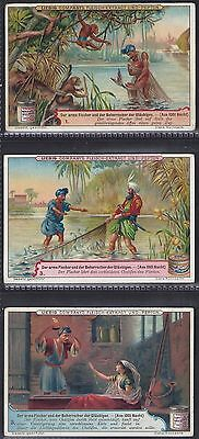 Liebig-*s0640*-Full Set Of 6 Cards- German - The Poor Fisherman & The Caliph