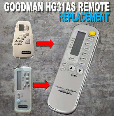Amana Goodman McQuay replacement ac remote Part B1100108 Model HG31AS