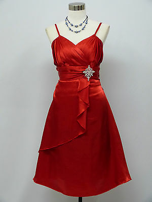 Cherlone Red Prom Ball Evening Bridesmaid Wedding Formal Gown Dress Size 14-16