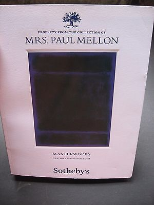 Sotheby's   Paul  Mellon  Auction  Works Of Art  Collection  Of Masterwork