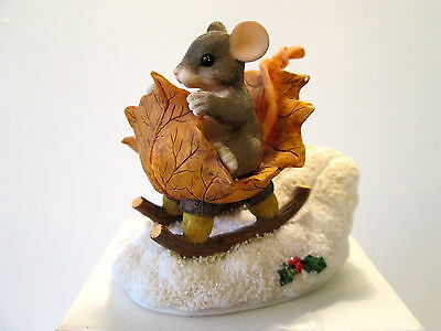 Charming Tails- One Mouse Open Sleigh - 98/195 -F&F- Signed by Dean Griff - MIB