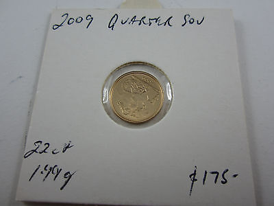 2009 Great Britain quarter sovereign in 22ct GOLD