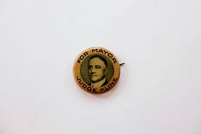 Judge Charles Kline Picture Campaign Button-Pittsburgh, Pa. Mayor 1926-1933