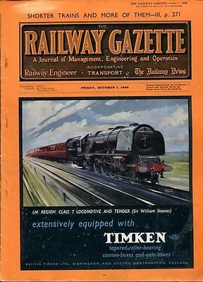The Railway Gazette and The Locomotive - Historical Magazines : 1947/8 Editions