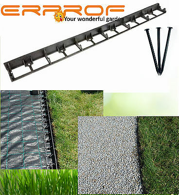 Lawn Edge Grass Edging Border Palisade 10 Sets Of 4,5 X 100 Cm 3 Anchors In Set