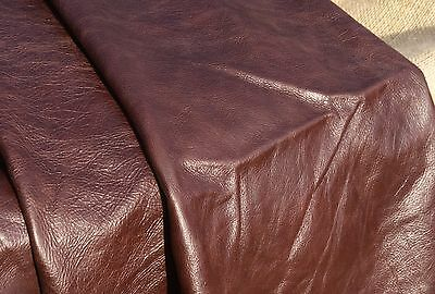 LOVELY Large Quality Leather Offcut - DARK BROWN - 86 x 68 cm