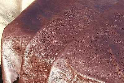 LOVELY Large Quality Leather Offcut - DARK BROWN - 103 x 56 cm
