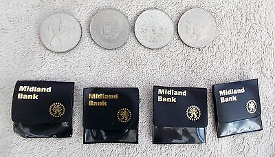 Collection of Four Queen Elizabeth II Crown Coins