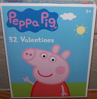 Valentines Day Cards (Box of 32) Peppa Pig
