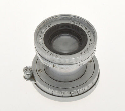 Leitz 5cm 50mm F:2.8 50/2.8 Elmar E39 SM 39x1, sold as is for parts or display