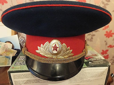 Russian Army officer's hat ACTUALLY DATED 1990