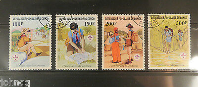 Congo, Democratic Republic Stamps 631-634, Scouting / Boy Scouts, NH, SCV $2