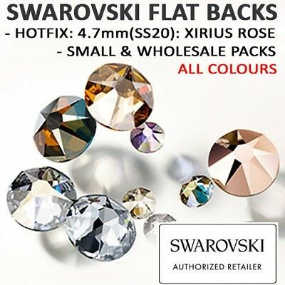 SWAROVSKI Flat Back Crystals / Rhinestones: 4.7mm(SS20) HOTFIX 2078: ALL COLOURS