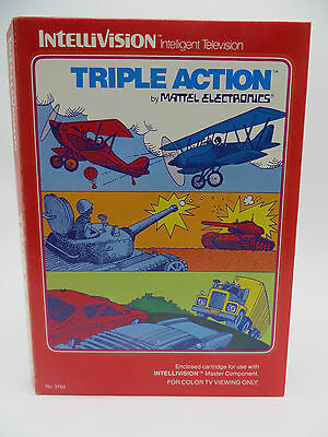 Intellivision Triple Action Video Game - Complete - 1981 Mattel
