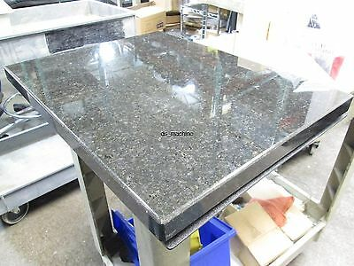 "Black and Brown Polished Granite Slabs w/ Gel Base 20 3/4"" x 16"" x 1 1/4"" Thick"