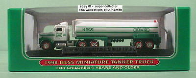 1998 Hess Mini Tanker Truck Mint in Mint Box Miniature 1st in Series