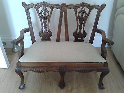 Chippendale Style childs double back chair