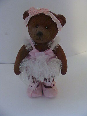 Russ TEDDY TOWN Pink BALLERINA resin Jointed Bear