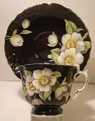 Vintage Aynsley Hand Painted Floral Cabinet Cup And Saucer 1087