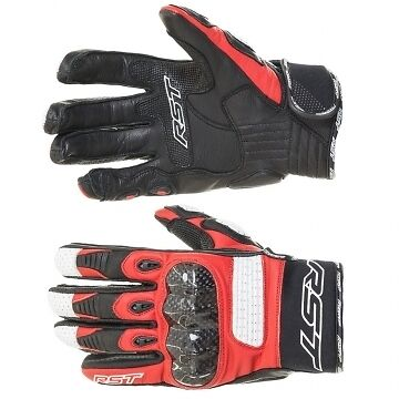 RST Freestyle Red Leather Sports Motorcycle Gloves