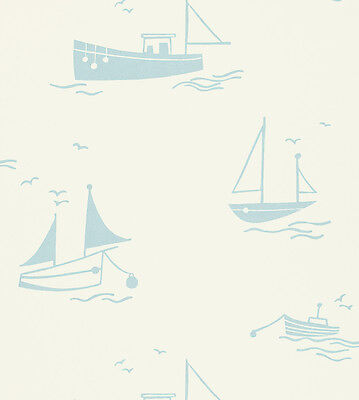 Harlequin All About Me Sail Away Soft Blue Wallpaper 2 Rolls
