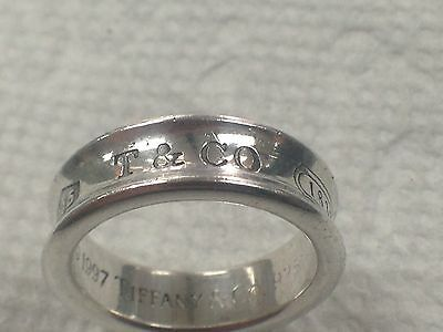 Tiffany & Co. 1837  Ring Sterling Silver  925  Men's Ring size 8.5