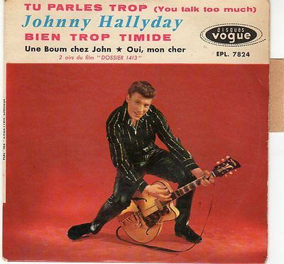 Johnny HALLYDAY EP 45 tours vinyle Vogue EPL 7824