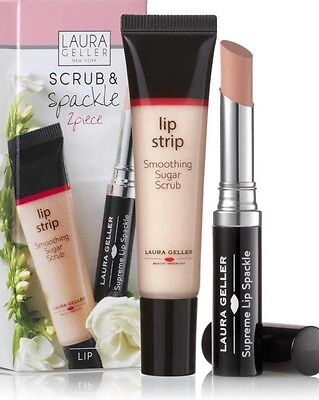 ��Laura Geller Lip Scrub & Lip Spackle Primer 2 Piece Set New & Boxed��