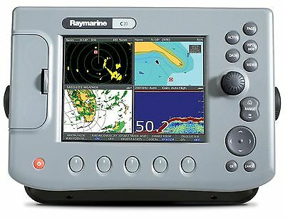 Raymarine C-70 Classic Mfd  Good Condition Manuals, Cables, Flush Mount