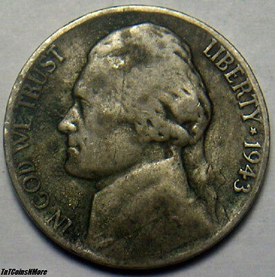 1943-P 35% Silver Jefferson Wartime Nickel - Your Grade Value - Free Shipping !