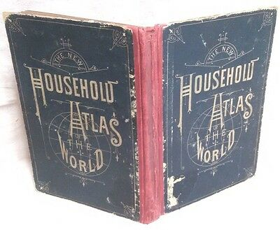 Authentic Rand McNally 1885 The New Household Atlas of the World