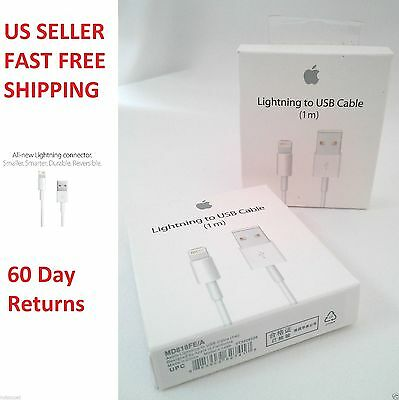 Original, Apple iPhone 6/5/5S/5C Lightning USB Charger Data Cable (OEM)