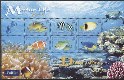 BIOT Fishes ( IV) 2008 Mi#445-450 MNH