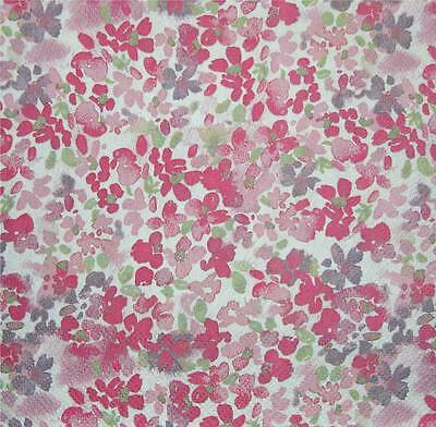 Four (+1 Free) Single Paper Napkins Ideal For Decoupage Busy Pattern In Pinks!