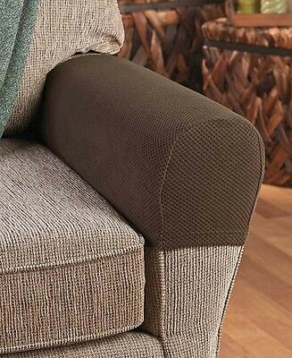 Set Of 2 Stretch Armrest Cover Sofa Couch Loveseat Furniture Protector New