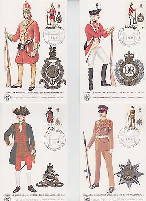 Gibraltar Stamps 1969 Soldiers First Day Maxi Cards From Collection