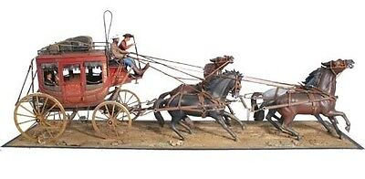 Lindberg 70351 1:16 Concord Stagecoach w/Horses & Figures Kit
