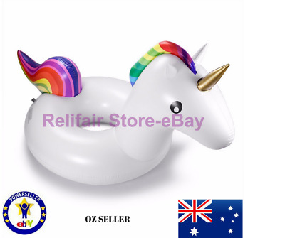 Inflatable Unicorn Tube Pool Float-Perfect Unicorn Ring for Kids and Adults