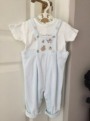 Baby Boys Velour Outfit Designer Coco 0-3 Months