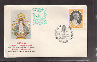ARGENTINA 1960 COVER # 681, 150th ANNIVERSARY OF THE MAY REVOLUTION !!