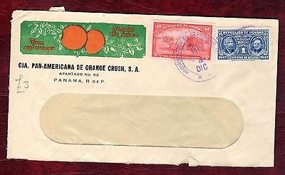 PANAMA STAMPS-Marie Curie stamp on postal cover, 1947