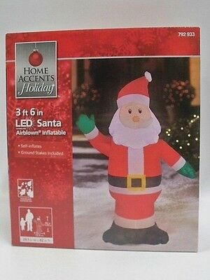Christmas Airblown Inflatable 3.5 Ft. LED Santa New