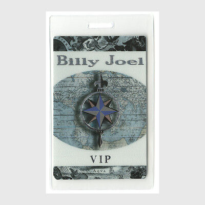 Billy Joel authentic 1990 concert tour Laminated Backstage Pass