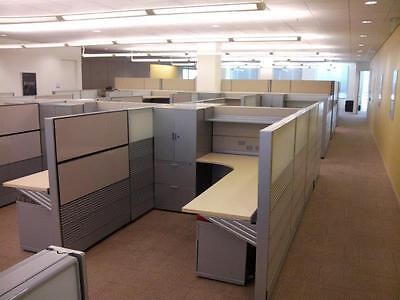 CLS-046 - Grey - 6 x 8 Herman Miller Ethospace Cubicles