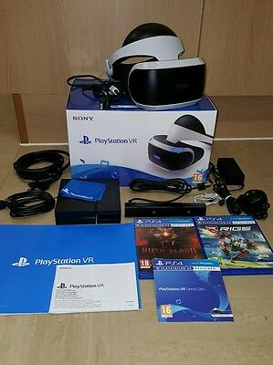 Sony PlayStation PS4 PSVR Headset with Camera & 2 Games